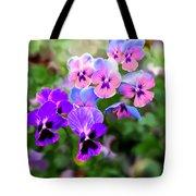 Pretty Pansies 4 Tote Bag