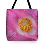 Pretty Pink Poppy Macro Square Tote Bag