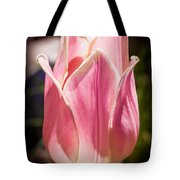 Pretty Pouting Pink Tulip Abstract Garden Art By Omaste Witkowsk Tote Bag