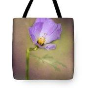 Pretty Purple Flower Tote Bag