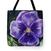 Pretty Purple Pansy Person Tote Bag