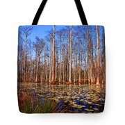 Pretty Swamp Scene Tote Bag by Susanne Van Hulst