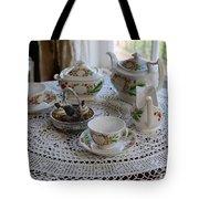 Pretty Tea Set Tote Bag