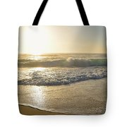 Pretty Waves At Glowing Sunrise By Kaye Menner Tote Bag