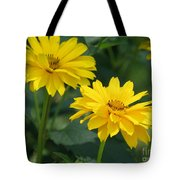 Pretty Yellow False Sunflowers In Bloom Tote Bag