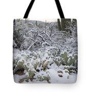Prickly Pear And Saguaro Cacti Tote Bag