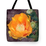 Prickly Pear Blossom Tote Bag