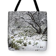 Prickly Pear Cactus And Mesquite Tree Tote Bag