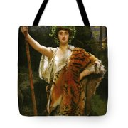 Priestess Bacchus Tote Bag by John Collier