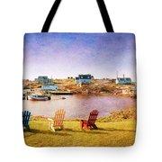 Primary Chairs - Digital Art Tote Bag