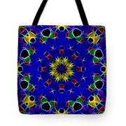 Primary Colors Fractal Kaleidoscope Tote Bag