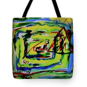 Primary Study IIi Into The Light Tote Bag