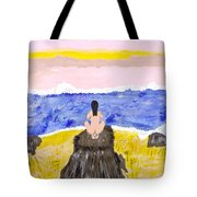 Primitive Woman Crouching Tote Bag