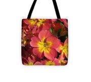 Primrose Flowers Tote Bag
