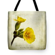 Primula Pacific Giant Yellow Tote Bag by John Edwards