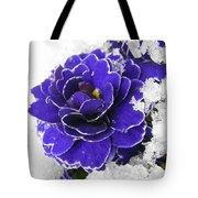 Primulas In The Snow Tote Bag