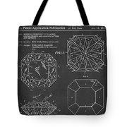 Princess Cut Diamond Patent Barcode Gray Tote Bag