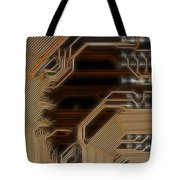 Printed Curcuit Tote Bag by Michal Boubin