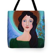 Priscilla  The Balancing Angel Of Love Tote Bag