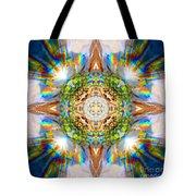 Prism Rainbow Mandala Tote Bag