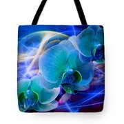 Prismatic Orchid Swirl Tote Bag
