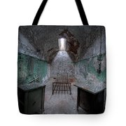 Prison Cell At Eastern State Penitentiary Tote Bag