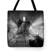 Prison Cell Black And White Tote Bag