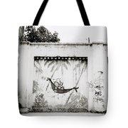 Prison Mural Tote Bag