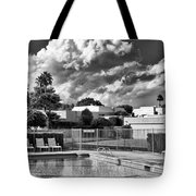 Pristine Pool Bw Marrakesh Palm Springs Tote Bag