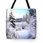 Pristine Winter Trail Tote Bag