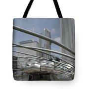 Pritzker South Facade Vertical Tote Bag