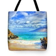 Private Beach At Wailea Maui Tote Bag
