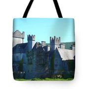 Private Property - Castle Art By Charlie Brock Tote Bag