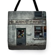 Pro Alignment And Repairs Tote Bag