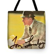 Pro Football Coach Tom Landry Tote Bag