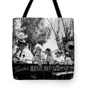 Pro-viet Nam War March Beaver's Band Box Musicians Tucson Arizona 1970 Black And White Tote Bag