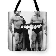 Pro Wrestlers Portrait Tote Bag