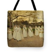 Procession Of Schoolgirls Tote Bag