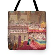 Procession Of The Dean And Prebendaries Of Westminster Bearing The Regalia, From An Album Tote Bag