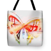 Profound Thought Butterfly Tote Bag