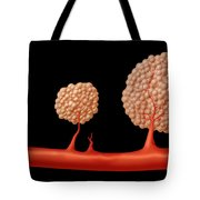 Progression Of Angiogenesis Tote Bag