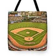Progressive Field Antique Look Tote Bag