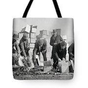 Prohibition Feds Destroy Liquor  1923 Tote Bag by Daniel Hagerman