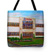 Promark Electronics 215 Voyageur Street Pointe Claire Montreal Scene Tote Bag