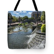 Promenade And Waterfall In Carroll Creek Park In Frederick Mary Tote Bag
