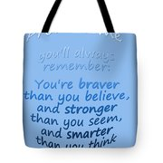 Promise Me - Winnie The Pooh - Blue Tote Bag