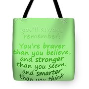 Promise Me - Winnie The Pooh - Green Tote Bag