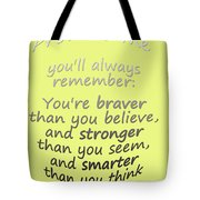 Promise Me - Winnie The Pooh - Yellow Tote Bag