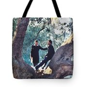 Proposing In A Tree Tote Bag