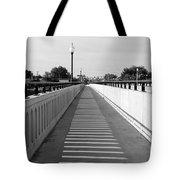 Prosser Bridge Perspective - Black And White Tote Bag